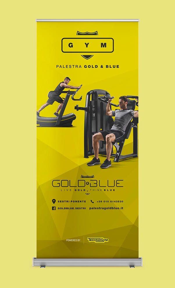 Gold & Blue – allestimento
